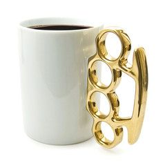 Knuckle Duster MUG! Gold-Tone, $15, now featured on Fab.