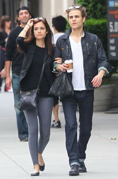 Paul Wesley and Torrey DeVitto...so cute