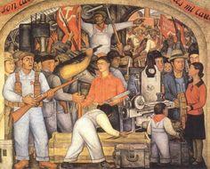 480 × 387 - Balada de la Revolución o Arsenal de Armas, de Diego Rivera, SEP