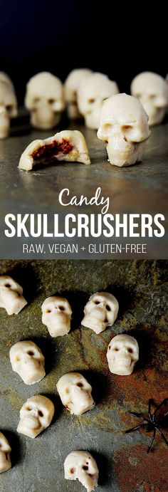 Tempted by all those sweet snacks this Halloween? These vegan Halloween treats will help you avoid unhealthy snacks, but still let you have a little fun! Vegan Halloween Candy, Halloween Food For Party, Halloween Treats, Healthy Halloween, Halloween Stuff, Halloween Desserts, Vegan Halloween Recipe, Spooky Treats, Halloween Foods