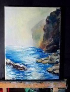 "Seascape Gail Grant Impressionism oil painting California  north coast  9"" x 12"" #Impressionism"
