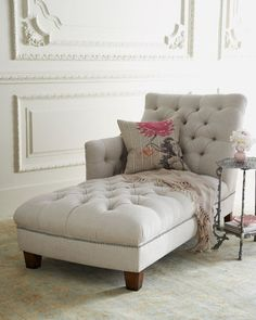 "Neiman Marcus""Maddox"" Tufted Chaise"