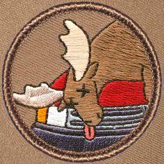 Cool boy scout patches Dead Moose Patrol Patch (#356) Patchtown.com
