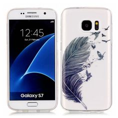 Galaxy S7 Case,S7 Case, Samsung Galaxy S7 cover, LTWS Ultra Thin Clear Art Pattern Crystal Gel TPU Rubber Flexible Slim Skin Soft Transparent Case Cover for Samsung Galaxy S7 (Birds of A Feather-gray) -- Awesome products selected by Anna Churchill