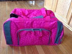 Pink lotsa dots on the pro duffle.