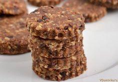 Сыроедческое печенье с кэробом, льном и орехами / Сыроедческие и вегетарианские рецепты