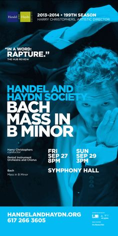 Handel and Haydn Society 13/14 Season by Kyle Thomas Hemingway Dickinson, via Behance
