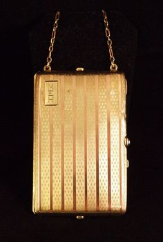 Art Deco 14K Rose and Yellow Gold Necessaire #vintage #deco #fashion