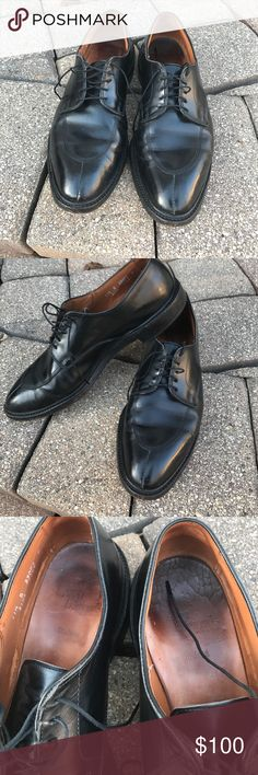 Allen Edmonds Walton black dress shoe Split toe black calf lace up from AE. 11.5 B US. Used shoes. Goodyear welted so new soles are an option. Leather is in pretty good shape just needs some TLC. Right insole appears to be crack but these can swapped out easily. Thanks for looking! Be sure to check out the rest of my closet for more great menswear deals! Allen Edmonds Shoes Oxfords & Derbys