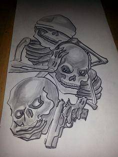 See no Evil, Hear no Evil, Speak no Evil tattoo drawing