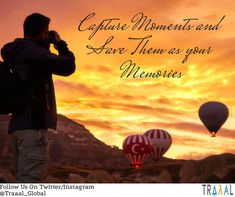 """""""Capture Moments And Save Them As Your Memories."""" \m/  #FollowUs and #StayTuned for our updates. (^_^) #travel #adventures #sun #balloon #mountain #nature #hiking #travels #travelling #startups #trends #onlinetravelagency #discover #reinvent #photography #solo #travelphotography #ilovetravel #joy #happiness #subscribe #comingsoon"""