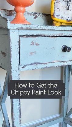 There are many different ways people are using to achieve the chippy paint look. View the slideshow below to read more:
