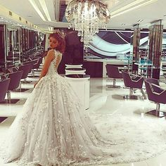Wedding princess lace dress