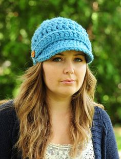 Womens Hat Newsboy Hat Crochet Hat Brimmed by SimplyMadeByErin, $30.00