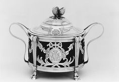Mustard pot, Pierre Benardié (or Berardier), Silver, French, c. 1775-81, Met…