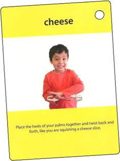 ASL sign for CHEESE  My Smart Hands Flashcards