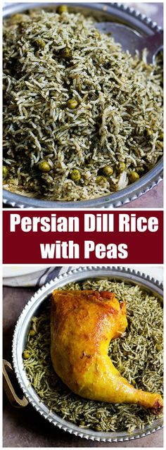 Persian Dill Rice With Peas Dill Rice And Peas Persian Recipes Persian Cuisine Persian Dishes Rice Recipes Green Rice Middle Eastern Rice Mediterranean Rice Herb Rice One Pot Rice White Rice Recipes, Rice Recipes For Dinner, Simple Rice Recipes, Middle Eastern Rice, Middle Eastern Recipes, Rice Side Dishes, Food Dishes, Teriyaki Chicken, Gumbo