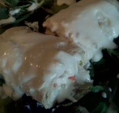 Seafood Enchiladas... a family favorite! 8 outta 10. We did leave out the jalapeno juice.