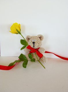 bear small  amigurumi  gift packing handmade   by ArtKarinaStudio