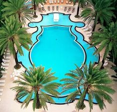 The Regency-style pool at the Raleigh Hotel in Miami is pretty major.