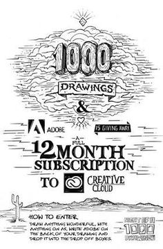 1000Drawings - Adobe Creative Cloud Competition