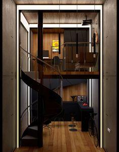 Комната отдыха в музыкальной студии - Интерьер в современном стиле с Vitra…