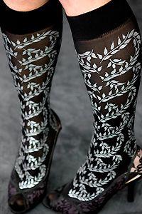 Polonova Vines Trouser Socks    so pretty!
