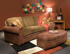 This curved sofa is one piece and is quite comfortable! So many fabrics to choose you can make it your own! Living Room Sofa, Living Room Furniture, Marshfield Furniture, Curved Couch, Conversation Sofa, Rustic Home Interiors, Sofa Styling, Sectional Sofa, Couches