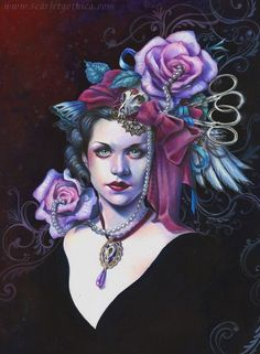 Necklace and Flowers by Claudia Ianniciello