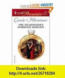 Httpsopenlibrarybooksol10739409m the billionaires marriage bargain harlequin presents 9780373126637 carole mortimer isbn fandeluxe Choice Image
