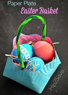 Homemade Paper Plate Easter Basket – Hip2Save
