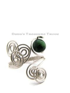 Ruby in Zoisite Argentium Silver Wirewrapped by DanusTreasureTrove, $30.00