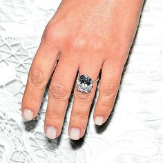 "Brides.com: . Kim Kardashian's Engagement Ring. Like the rest of the world, we were captivated by the details of Kimye's big day, and months later we're still floored by her 15-carat engagement ring. West reportedly spent a cool $8 million to procure the eye-popping cushion-cut diamond ring (and 33rd birthday present!). The D flawless type 2A rock (which jewelry designer Lorraine Schwartz described as a the ""perfect cushion-cut diamond"") is set in a pavé band so delicate, it looks as though…"