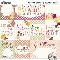 Autumn Leaves | Journal Cards