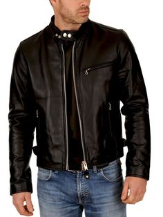 New Awesome Look Mens Leather Jacket Soft Lambskin Bomber Biker Jacket -27 #Handmade #BasicJacket
