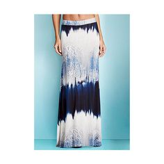 Sadie Ombre Tie Dye Paisley Maxi Skirt featuring polyvore, women's fashion, clothing, skirts, blue paisley, tie-dye skirt, long skirts, tie-dye maxi skirts, maxi skirt and ombre maxi skirt