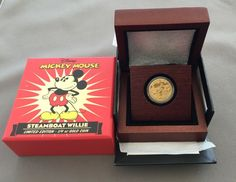 Disney Mickey Mouse Steamboat Willie 1/4 oz Gold Coin Ltd Edition #53/1000