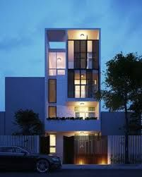 Visualization & Architecture by Phan Anh (PAStudio) Modern Townhouse, Townhouse Designs, Facade Architecture, Contemporary Architecture, Contemporary Design, Container Van House, Ultra Modern Homes, Home Lighting Design, Narrow House
