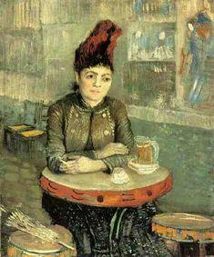 """Agostina Segatori Sitting in the Cafe du Tambourin""  Vincent Van Gogh"