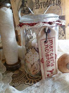 Borduurpakketje Mercerie Ancienne | Borduurpakketjes | Atelier Laura