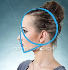 How to draw a female face in profile | ShareNoesis