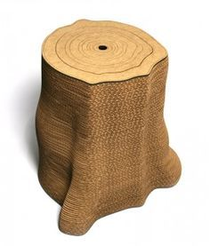 This Innovative Cat Scratching Post Looks Like A Tree Stump! Made Of  Cardboard.