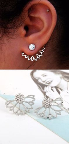 Cute Ear Piercing Ideas at MyBodiArt.com - Ear Jacket Earrings - Cartilage, Tragus, Helix, Rook, Conch