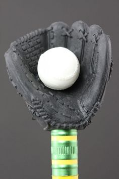 Black Baseball Mitt Eraser Series One