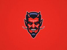 Devil, Tattoo shop and Red background on Pinterest