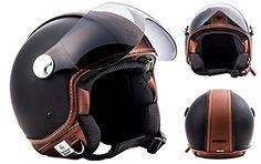 ARROW AV-84 Vintage Deluxe - black Retro Jet Vespa Vintage Bobber Scooter Helmet MOTO ECE certified - XL Arrow Special Parts http://www.amazon.com/dp/B00OWQPY72/ref=cm_sw_r_pi_dp_ptR1vb1V51X6A