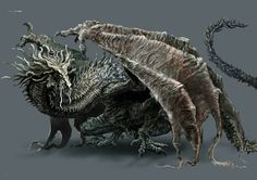 Dark Souls 3 Concept Art - Ancient Wyvern Concept Art