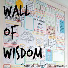 Fun decorating idea a Wall of quotes #wallart #quotes #gallerywall