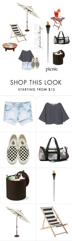 """#Picnic Days"" by charity-blossom ❤ liked on Polyvore featuring MANGO, Vans, Keter, Bloomingville and VIVO"