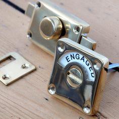 Brass Vacant v. Engaged Lock
